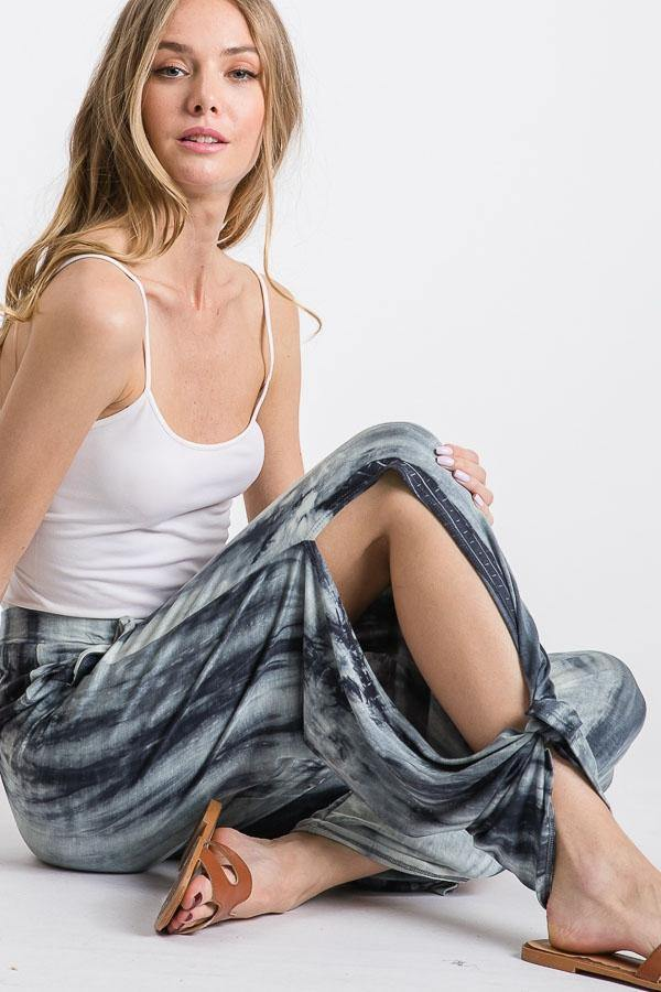 BoHo Tie Dye Pants in Navy - Made in USA