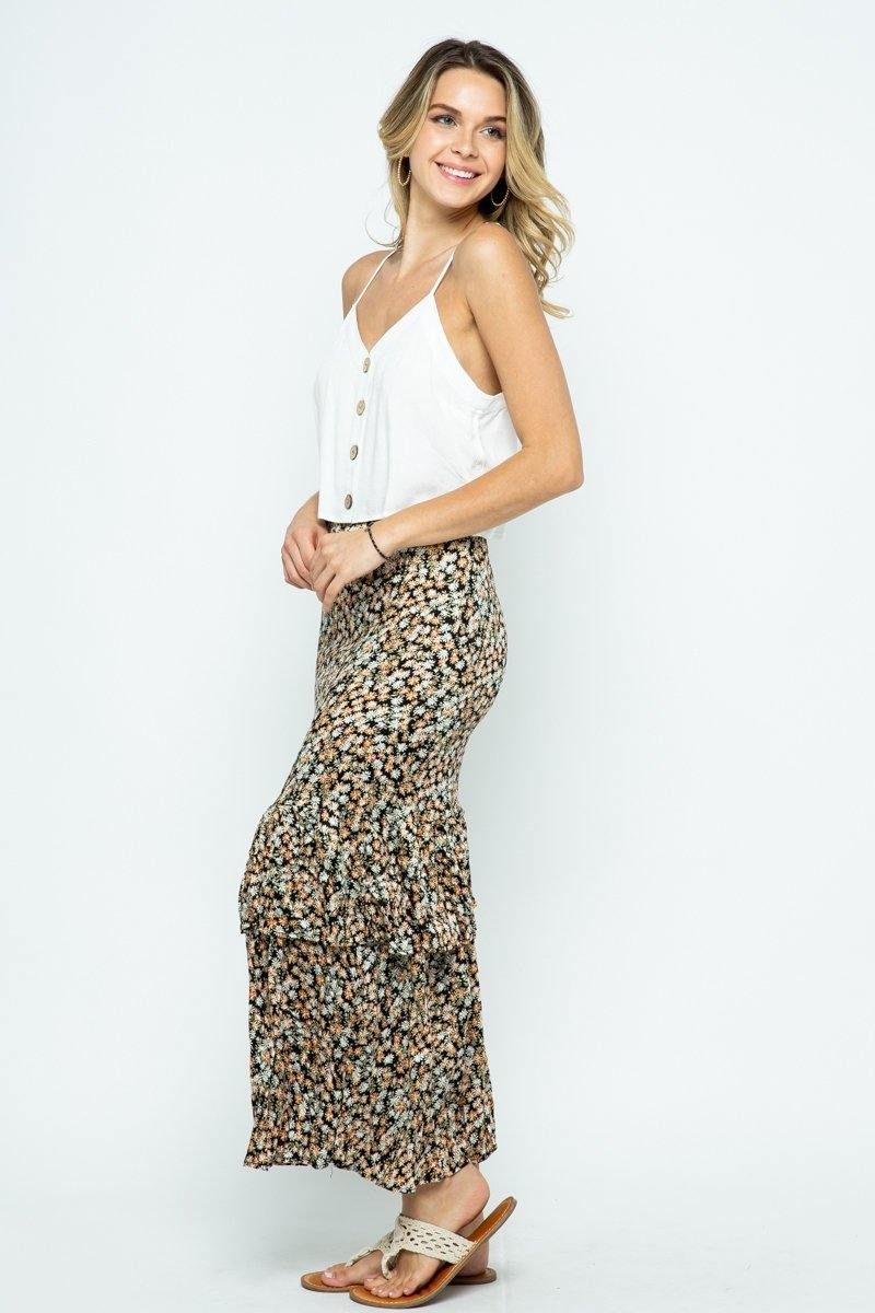 Dixie Floral Maxi Skirt - Made in the USA