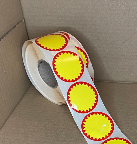 Red and Yellow Special Offer Label - Kingsley Labels