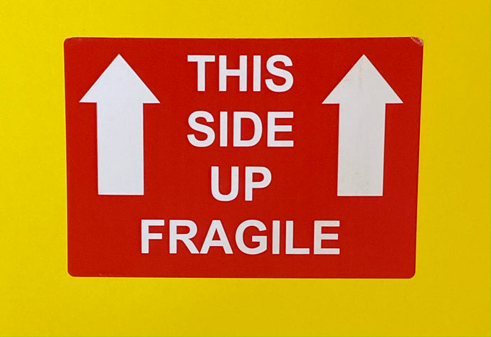 This Side Up Fragile Label - Kingsley Labels