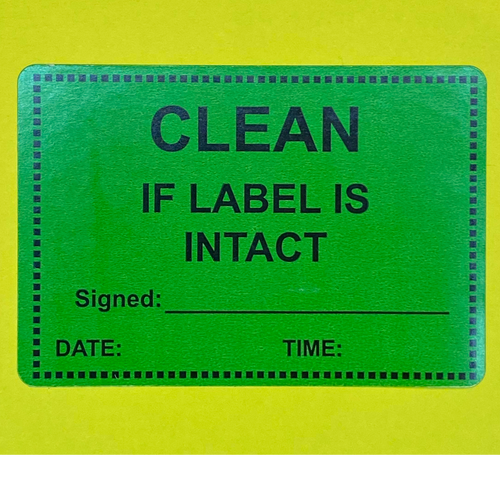 Clean If Label Is Intact - Kingsley Labels