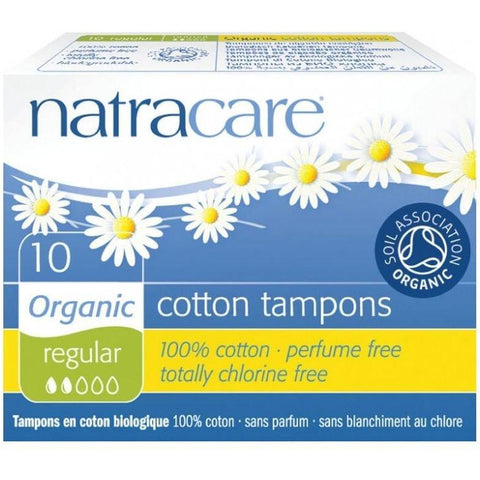 Natracare 10 Cotton Tampons Regular