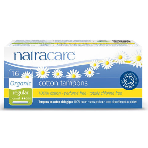 Natracare 16 Cotton Tampons Regular