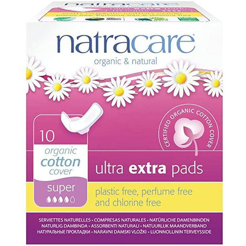 Natracare Ultra Extra Super Pads Wings