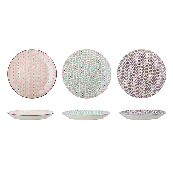 Maya Plate, Multi-color, Stoneware ( price for 1)