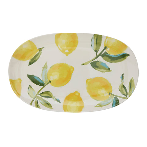 Citrus Serving Plate, Yellow, Stoneware
