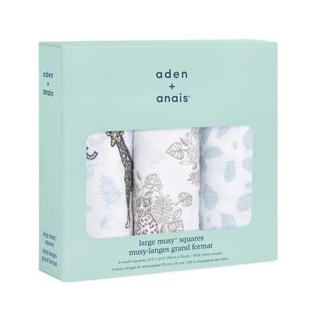 aden + anais muslin squares - jungle 3-pack