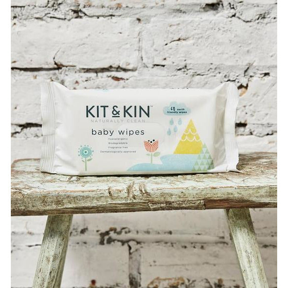 Kit & Kin Eco Baby Wipes (60 pack)