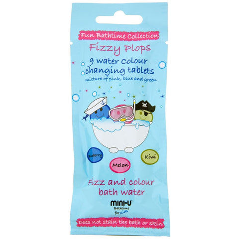 Mini-U Fizzy Plops Bath Colour Tablets 9 x 3g
