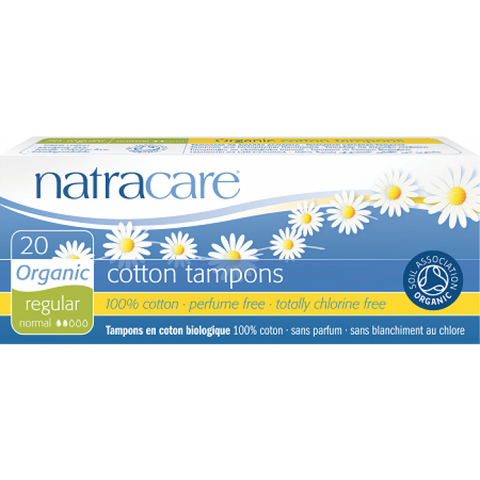 Natracare Cotton Tampons - 20pcs