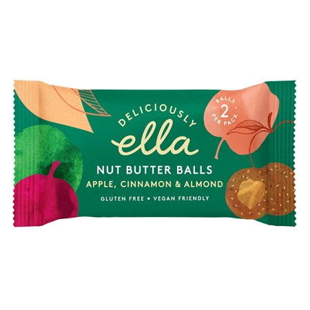 Deliciously Ella Apple & Cinnamon Almond Butter Balls – 36g