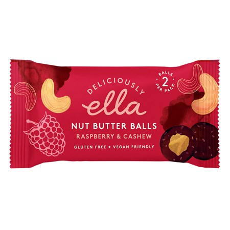 Deliciously Ella Raspberry & Cashew Nut Butter Balls – 36g