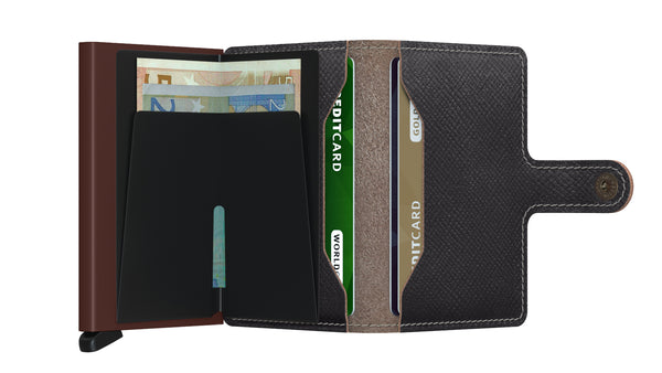 Secrid Miniwallet Saffiano Brown