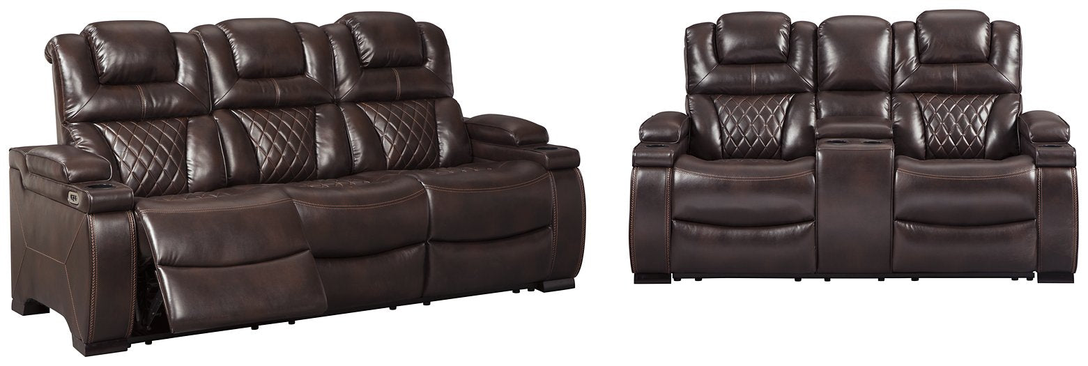 Warnerton Signature Design Contemporary 2-Piece Living Room Set