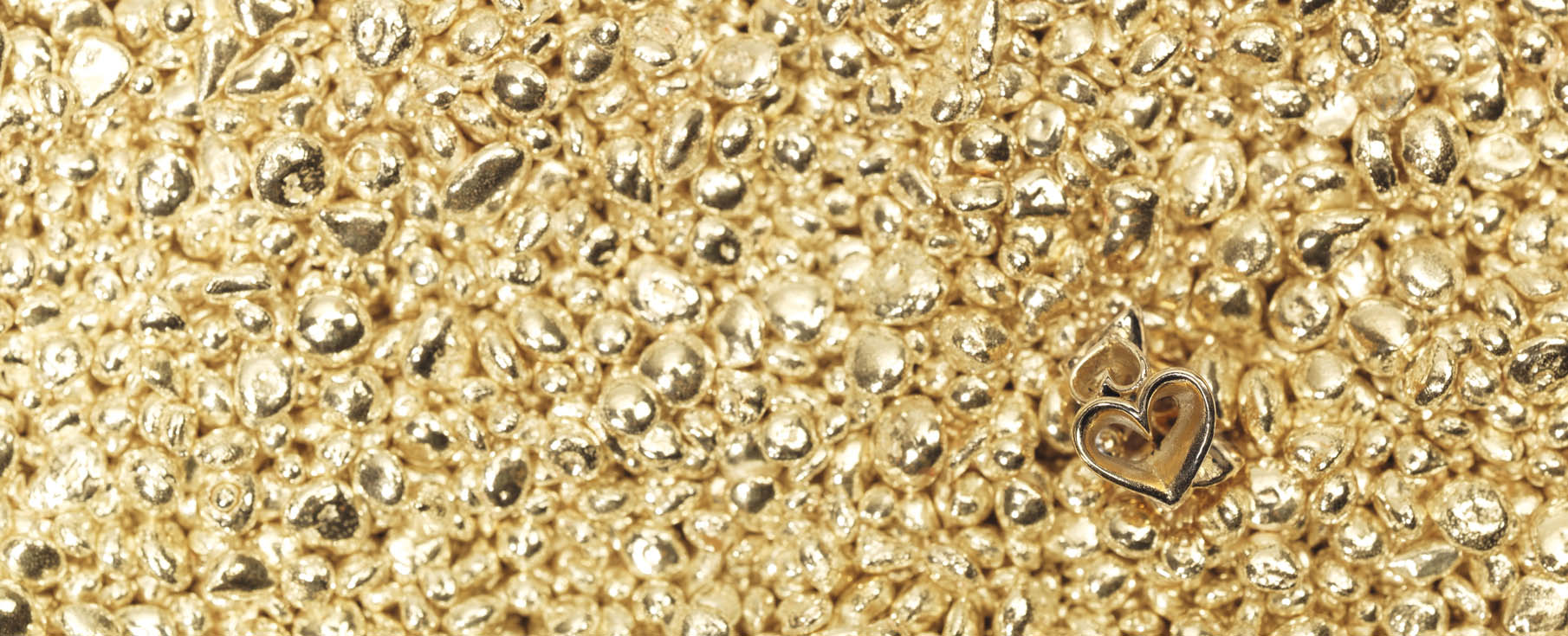 Marvelous gold being shaped for our jewellery.