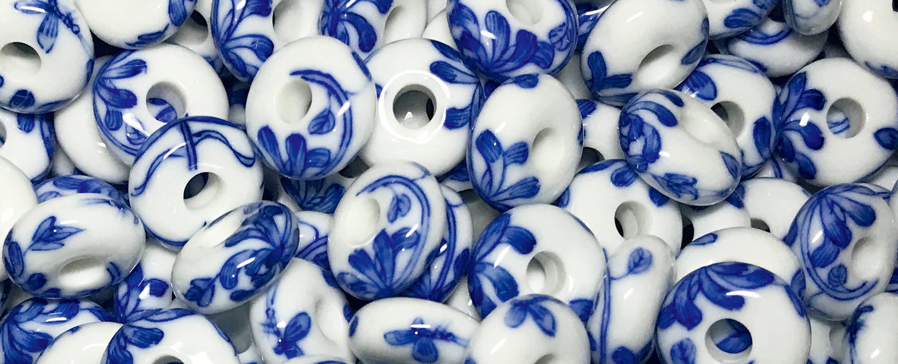 Lovely porcelain beads we use in our jewellery.
