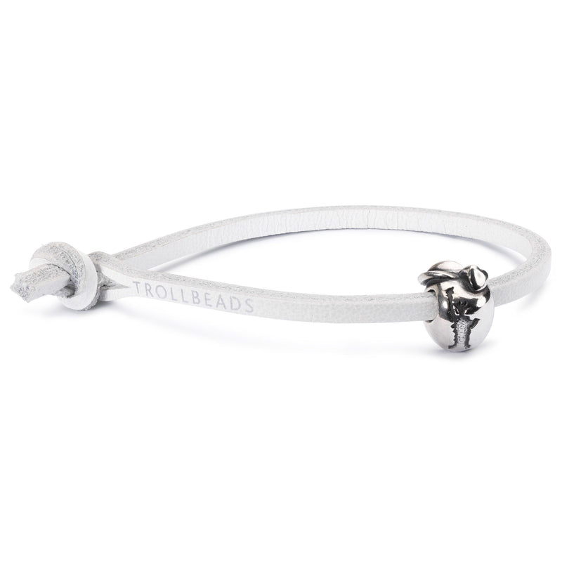 Single Leather Bracelet, White