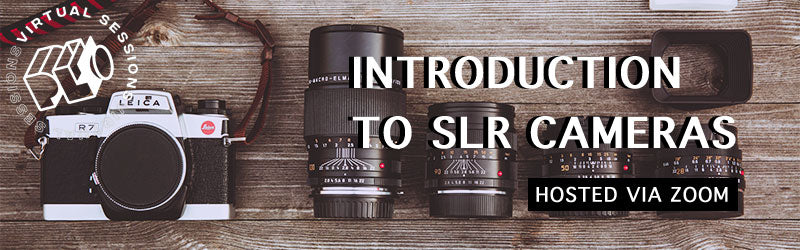 Introduction to SLR Cameras online film photography class on zoom