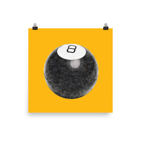 Magic 8 Ball Art Print