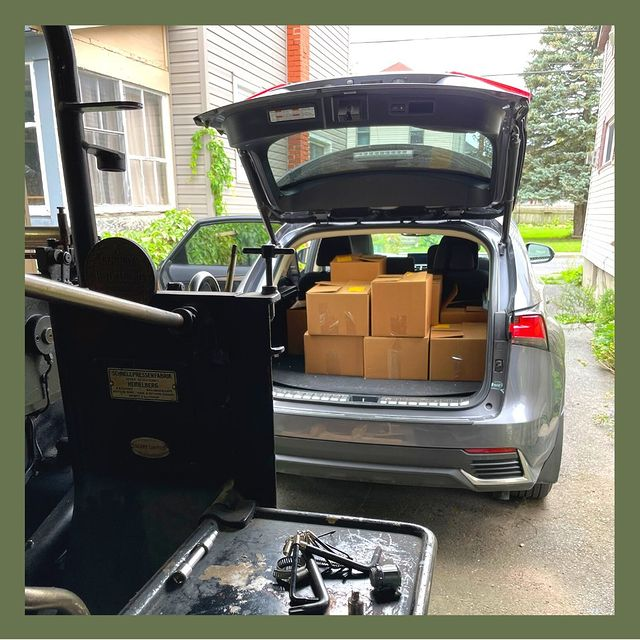 Car Trunk Full of Printed Pages Gatsby Letterpress