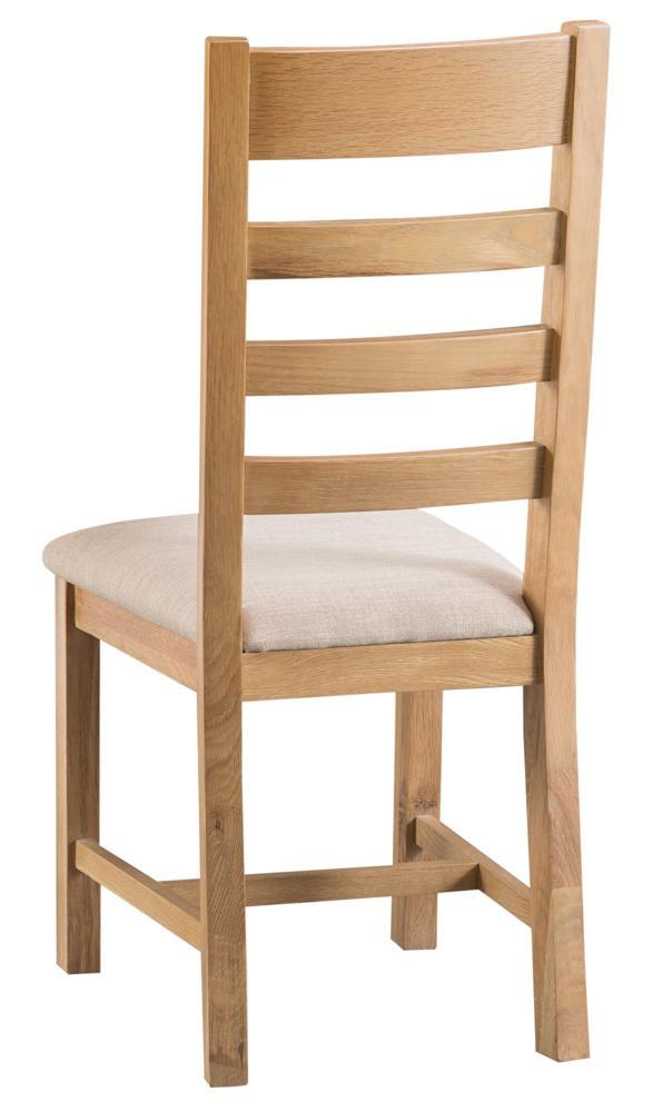 Harvington Ladder Back Chair Fabric Seat
