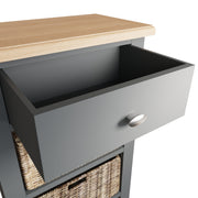 Ludlow Grey 1 Drawer 3 Basket Unit