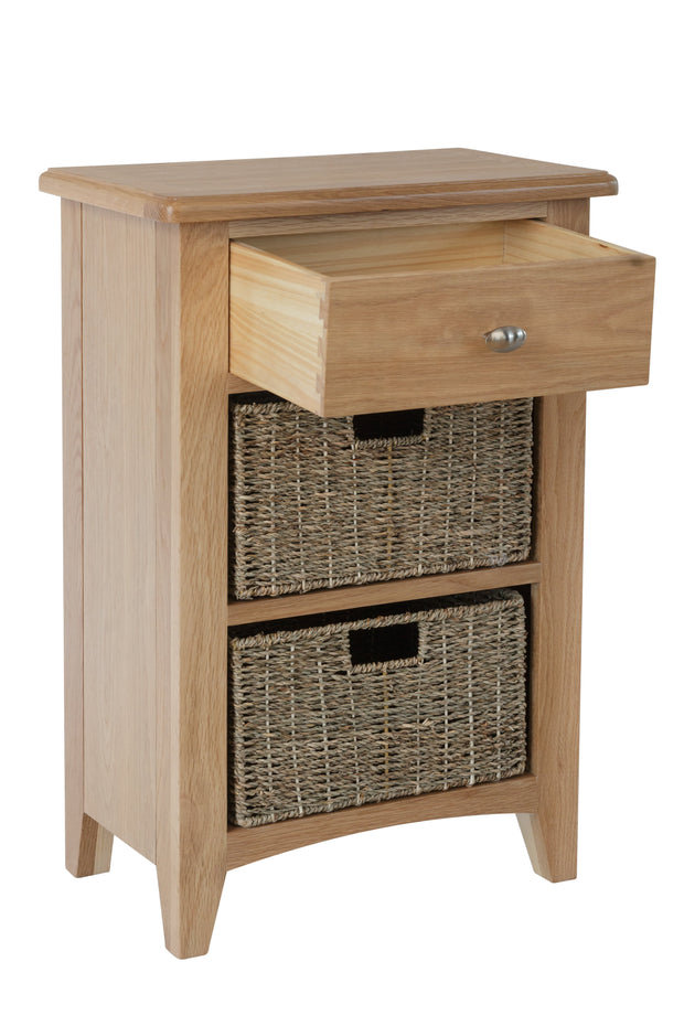 Ludlow Light Finish 1 Drawer, 2 Basket Unit