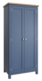 Ludlow Blue 2 Door Full Hanging Wardrobe