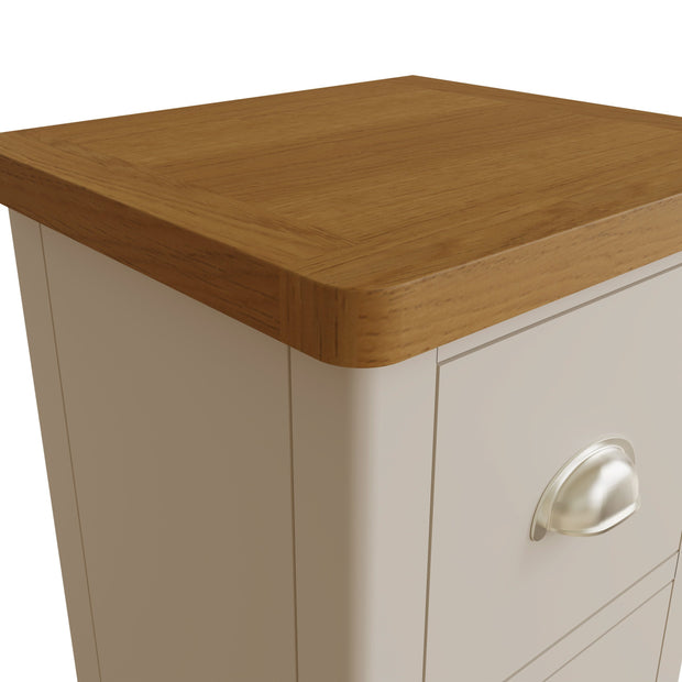 Ludlow Light Grey Small Bedside Table