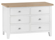 Kingstone White 6 Drawer Chest Of Drawers