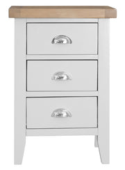 Kingstone White Bedside Table - Large