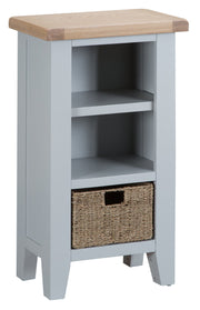 Kingstone Grey Small Narrow Bookcase