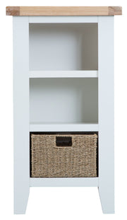 Kingstone White Small Narrow Bookcase