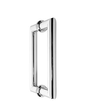 IGH6X6CMBN Brushed Nickel Round Tubing Mitered Square Handle CTC 6``
