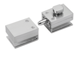 IPLTLSBBS Brushed Stainless Square Glass To Glass Lock For 10-12mm