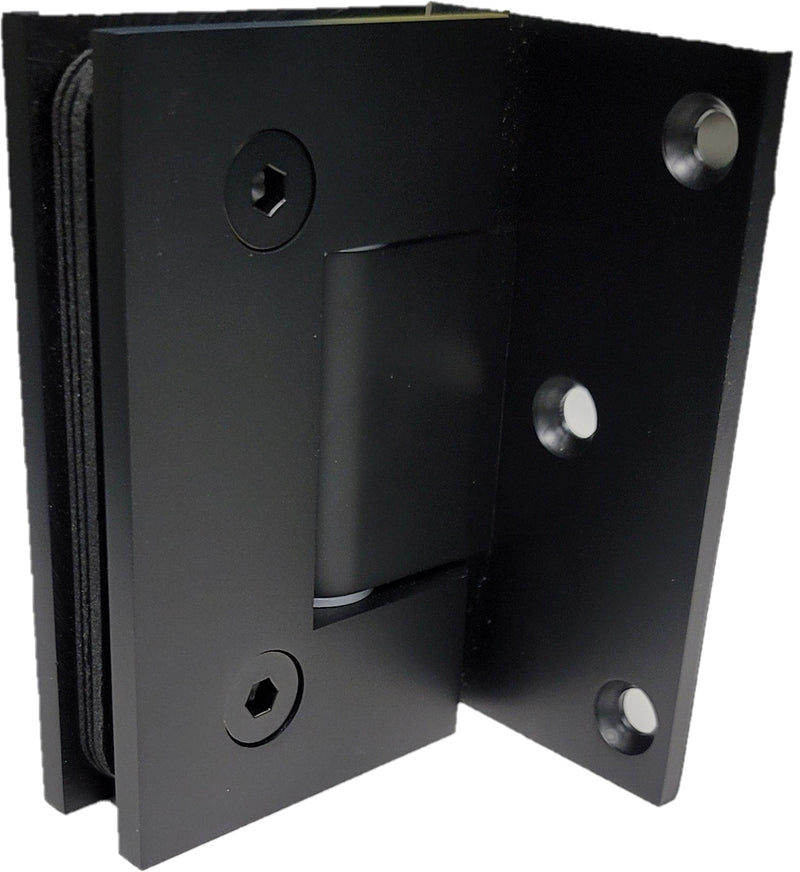 ISHOFS111EDBM Offset Matte Black Wall To Glass Hinge