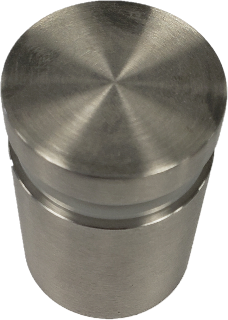 "ISO1121CBS Brushed Stainless Standoff Base 1-1/2"" X 1"" SS316"