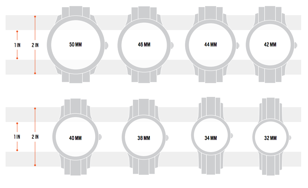 watch sizes