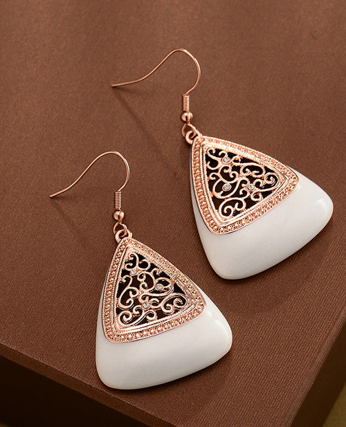Ivory Indian Earrings