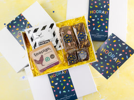 Why not congratulate somebody with a box of personalised brownies,...