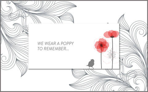 We wear a poppy to remember – The Sweet Reason Company