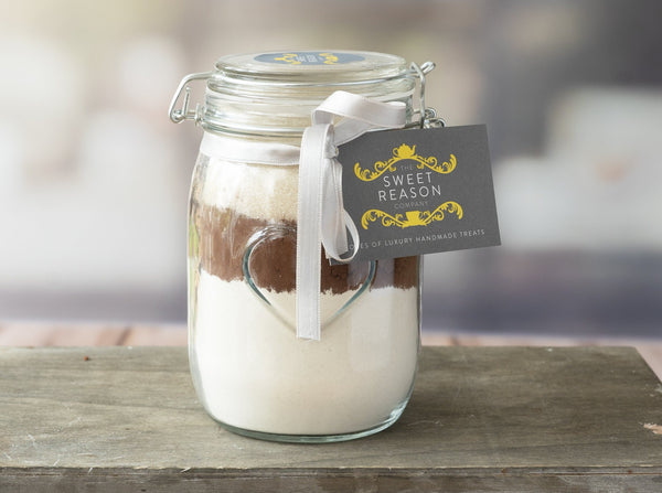 Large Chocolate Cake Mix Jar