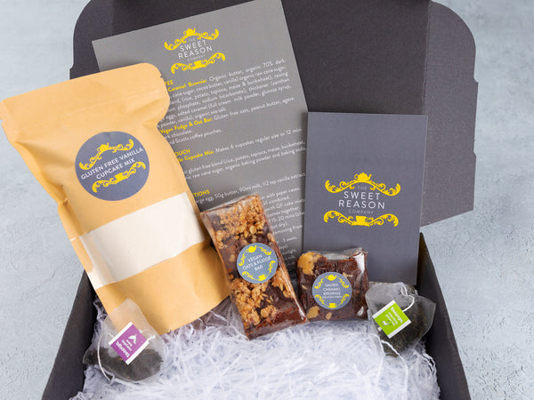 Gluten Free Baking Kit, Treats & Tea Mini Hamper