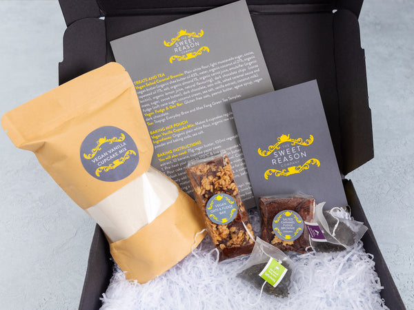 Vegan Baking Kit, Treats & Tea Mini Hamper
