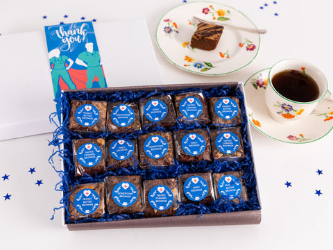 Our Indulgent Thank You - Hero Brownie Box combines all our favourite brownie...