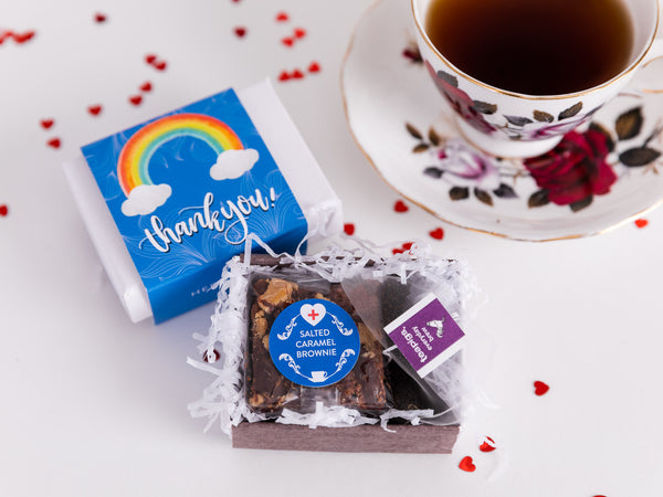 Thank You - Mini Rainbow Brownie & Tea Gift