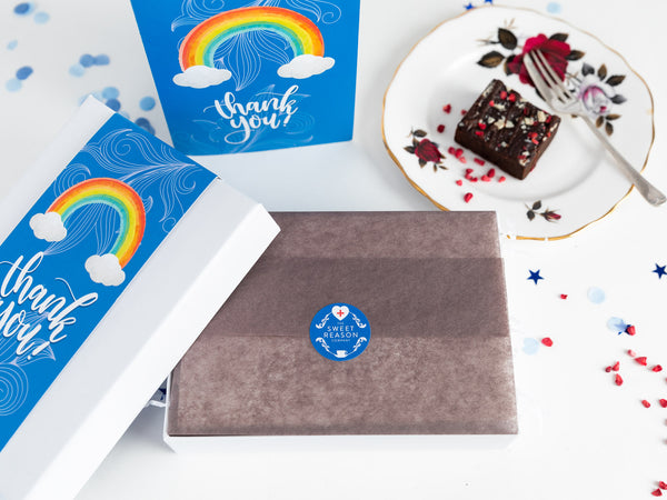 Thank You - Gluten Free Rainbow Luxury Brownie Gift