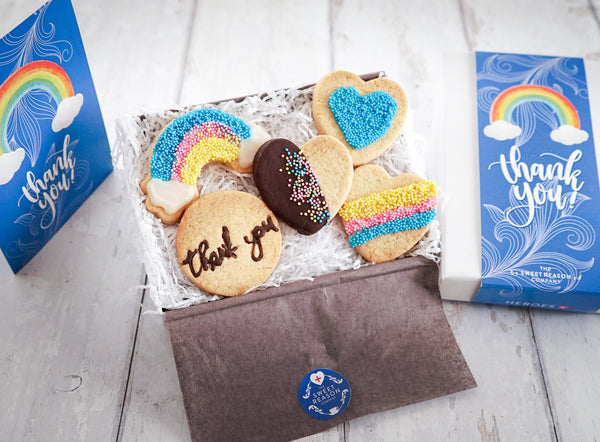 Thank You - Rainbow Biscuit Box