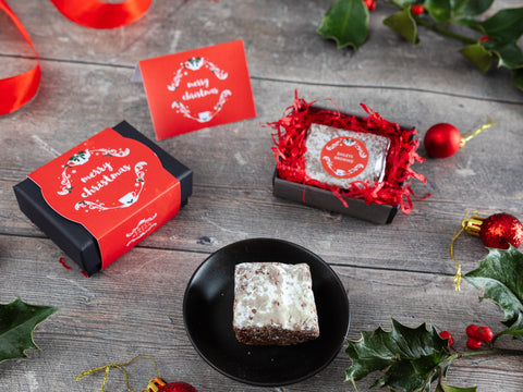 Our Christmas Mini Baileys Brownie Gift is a delightful treat...