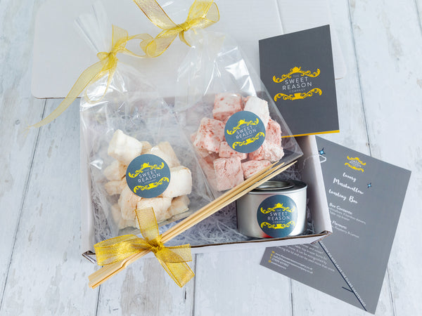 Raspberry and Salted Caramel Marshmallows Indulgent Toasting Box